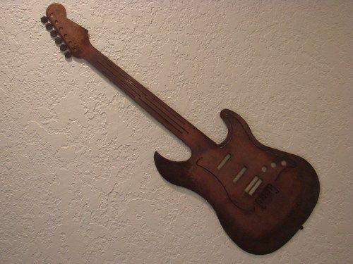Sunburst Quotstratquot Guitar Copper And Torch Patina Metal Wall