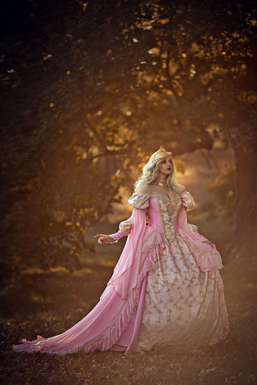 In Stock Medium Pink Sleeping Beauty Fantasy Gown Costume