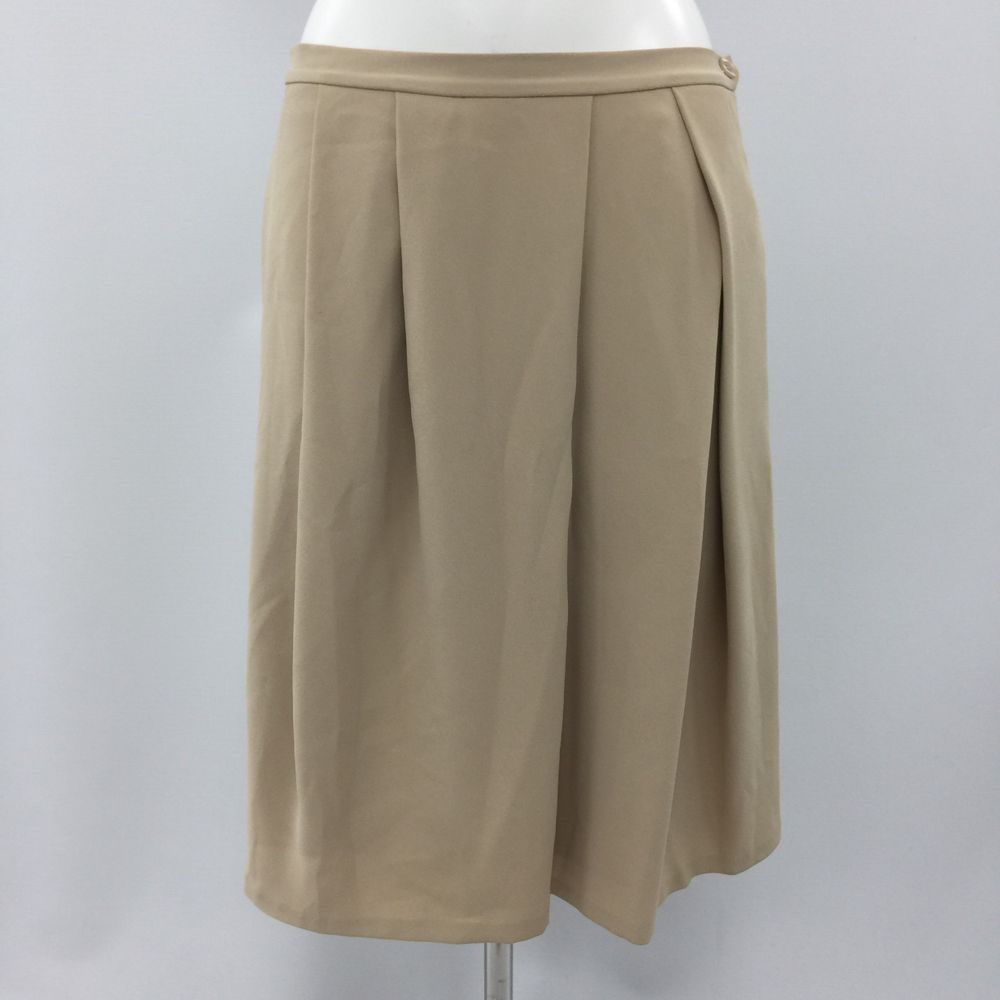 c8da011d9dc REISS Yellow Beige Pleated Skirt Formal Occasion Work Smart Size UK 12  41862  fashion