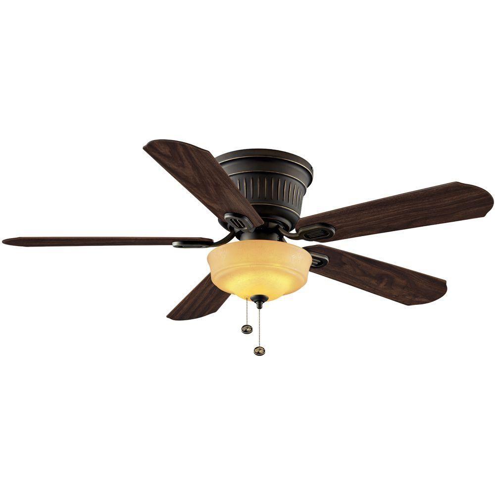 Hampton Bay Ceiling Fan Indoor Oil Rubbed Bronze 3 Light Kit LED Bulbs 42 in.