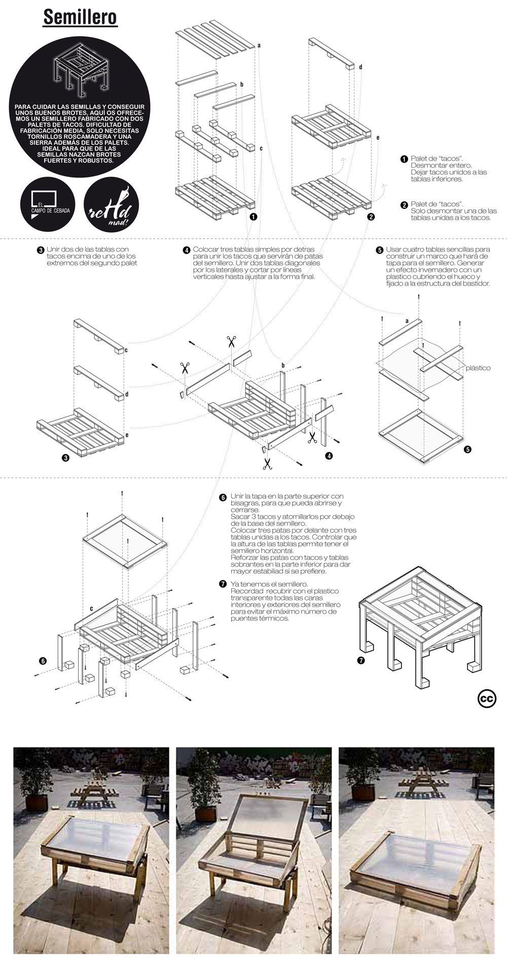 serre en palettes garden diy jardinage jardins et. Black Bedroom Furniture Sets. Home Design Ideas