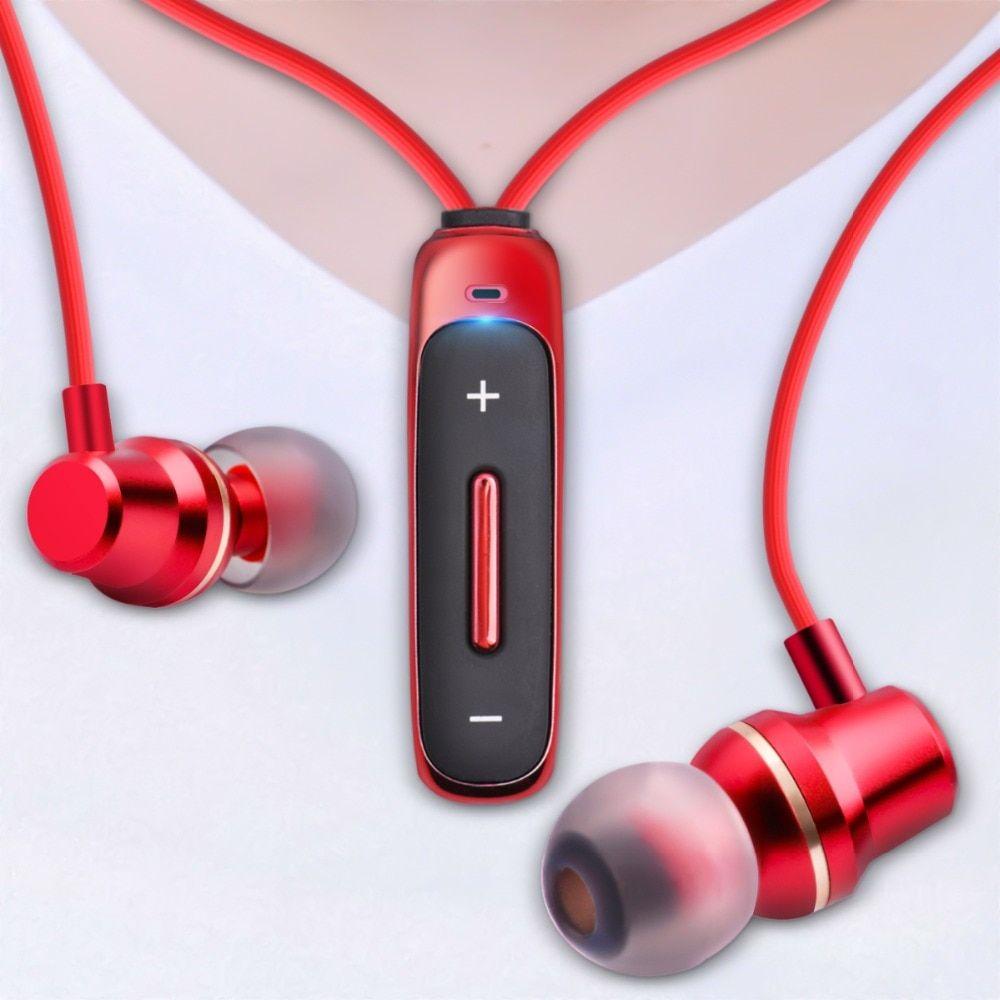 Fonken Bluetooth Earphone In Ear Wireless Earphones With Mic Sport Bass Magnetic Necklace Earpiece In Ear Mobile Phone Earbuds Wireless Earphones Wireless Headphones Bluetooth Earphones