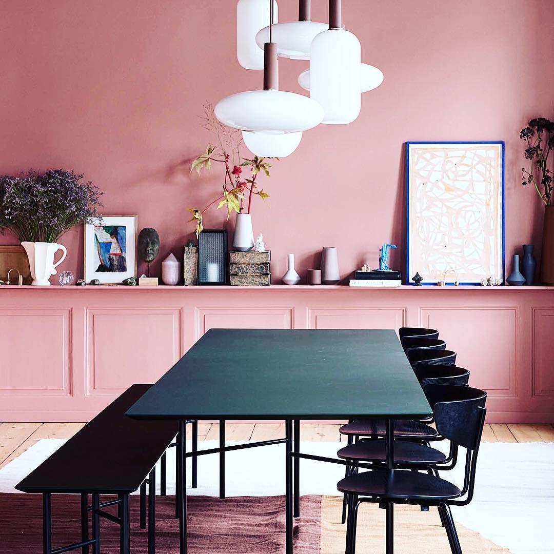 "Orac Decor on Instagram: ""Pink wall inspiration! 💕 #walldeco #inspiration #wallart #panels #interior #color #cosy #scandinavian #design #potd #fermliving #oracdecor"""