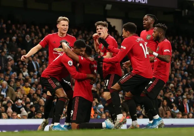 Rashford And Martial Secure Shock Derby Win To Wreck Pep S Title