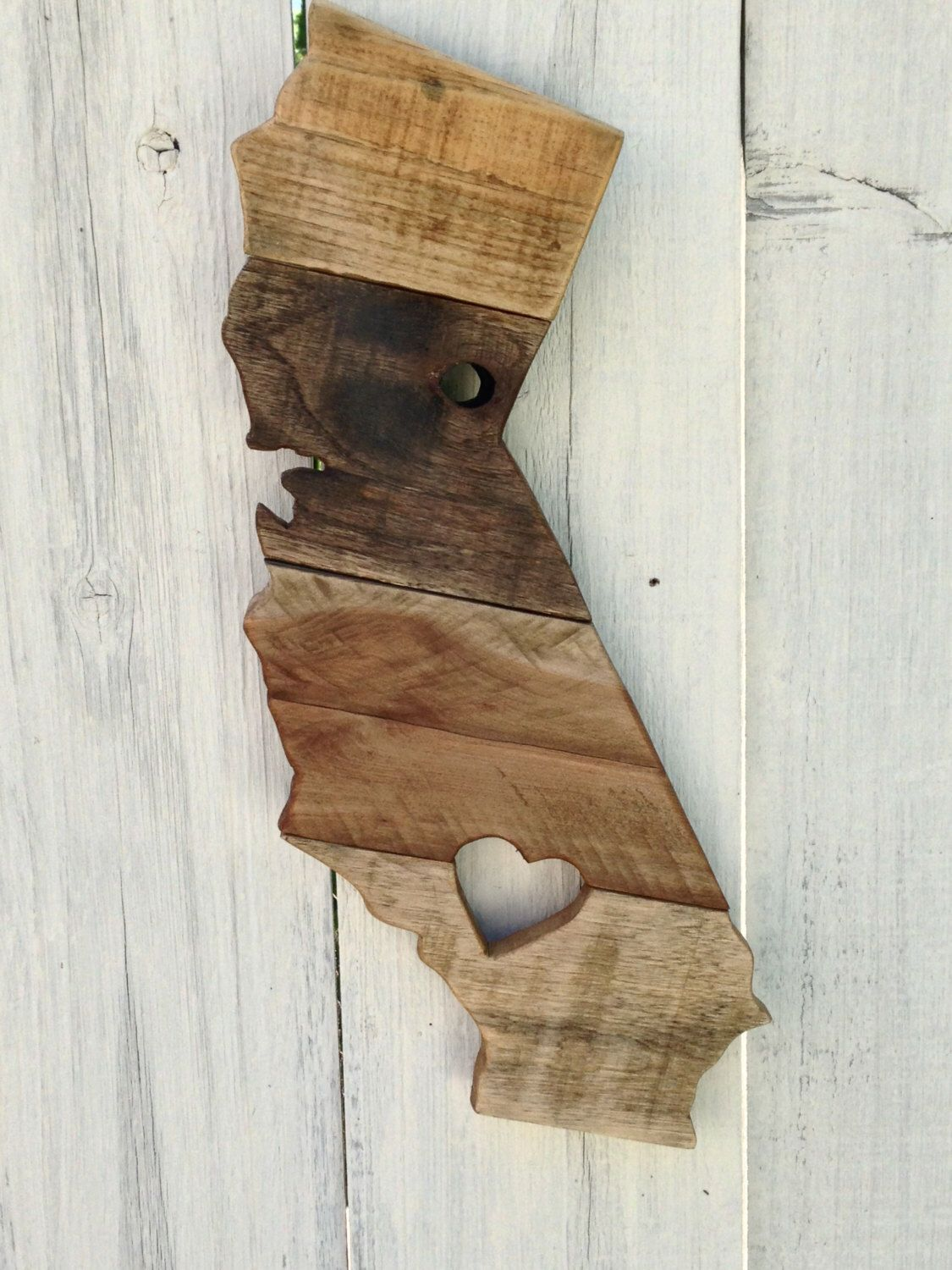 Reclaimed Wood California Sign Wooden Rustic Home Decor State Signs Wall Art By