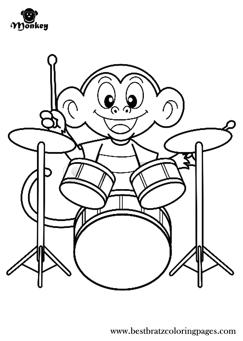 Free Printable Monkey Coloring Pages For Kids | Coloring pages ...