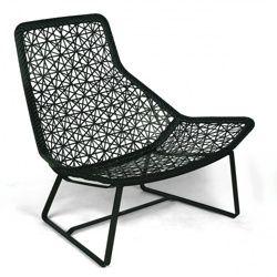 Maia Relax - Fauteuil / fauteuil de jardin - noir/chestnut/châssis ...