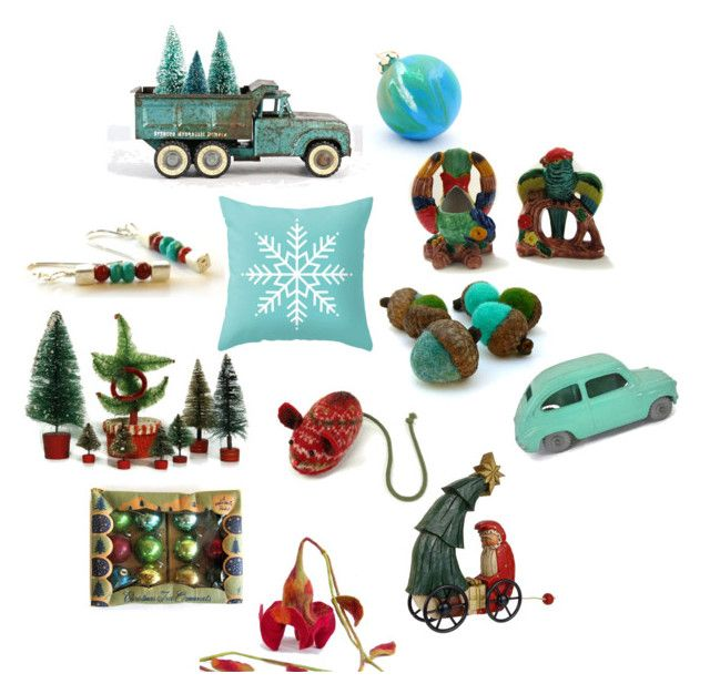 """""""Santa's Truckload"""" by patack ❤ liked on Polyvore featuring interior, interiors, interior design, home, home decor, interior decorating and vintage"""