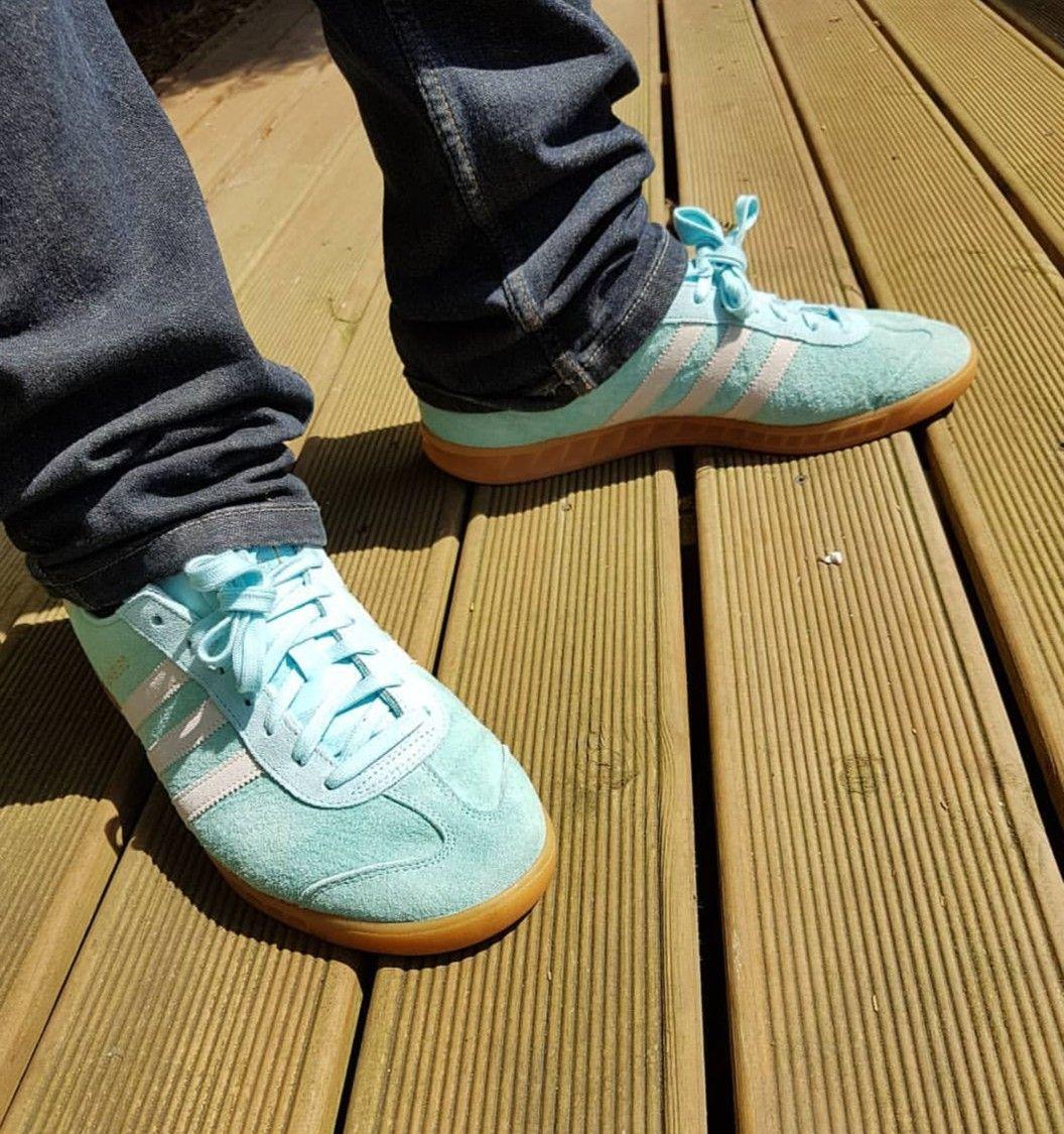 ... pretty cheap Frost Blue Hamburgs on feet on the street Adidas Pinterest  Hamburg 65181 ... 16c1184fe