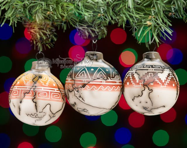 Navajo Indian Horsehair Christmas Ornament -3 Set (co7) - Mission Del Rey  Southwest - Navajo Indian Horsehair Christmas Ornament -3 Set (co7) Holidays
