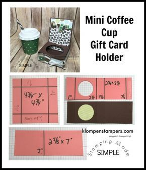 Mini Coffee Cup Gift Card Holder | Klompen Stampers #coffeecups