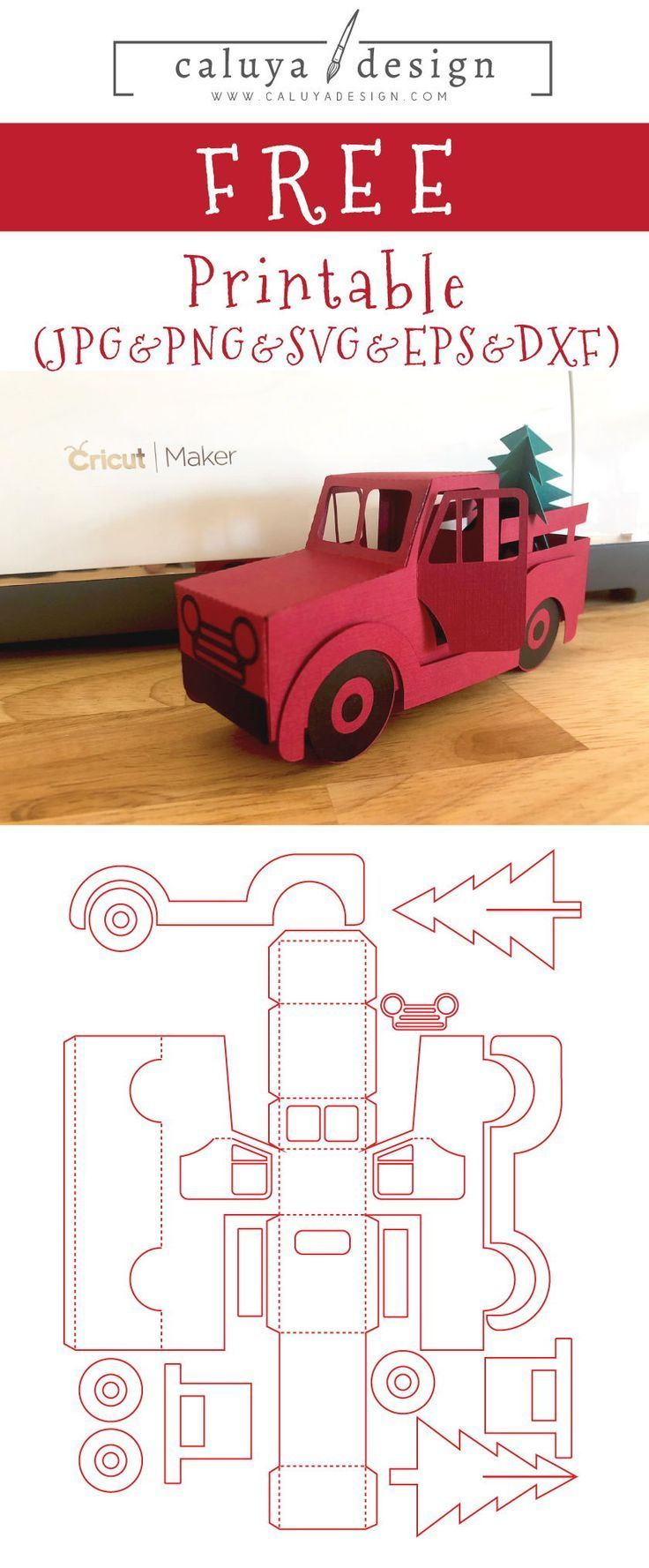 Free 3D Christmas Truck SVG, PNG, EPS & DXF by Christmas