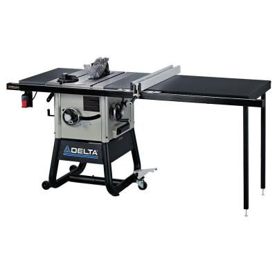 Delta 15 Amp 10 In Left Tilt 52 In Contractor Table Saw With Steel Wings Contractor Table Saw Table Saw Delta Table Saw