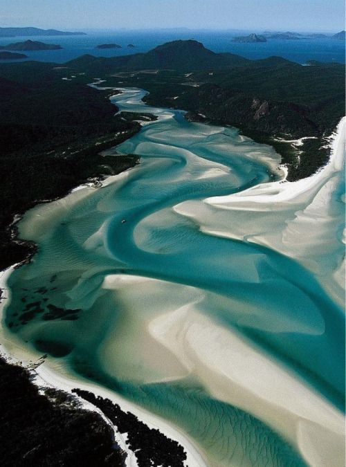 "ovadiaandsons: "" Whitsunday Islands, Whitehaven Beach, Australia """