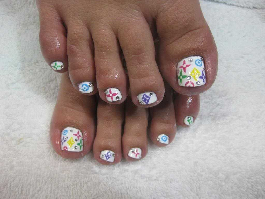 Wedding Bling Toe Nails Design | Toe Nail Art Cute Toenail Designs ...
