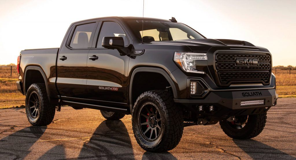 Hennesseys Goliath 700 Gmc Sierra Denali Features Upgrades Worth Almost 42000 Hennessey Has Presented In 2020 Gmc Sierra Denali Sierra Denali Gmc Sierra