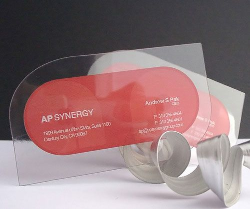 Clear plastic business cards transparent card pinterest clear plastic business cards reheart Image collections