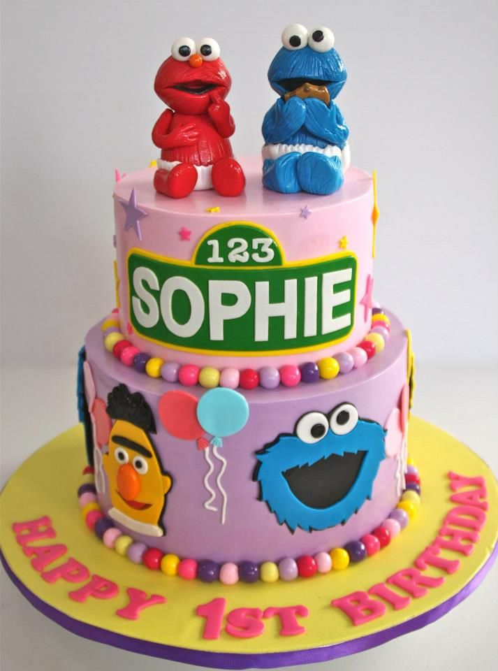 This Would Be A Cute Cake For Twins For Their First Birthday