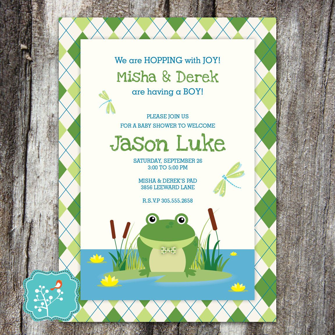 Frog Baby Shower Invitation, Baby Shower, Princess and the Frog ...