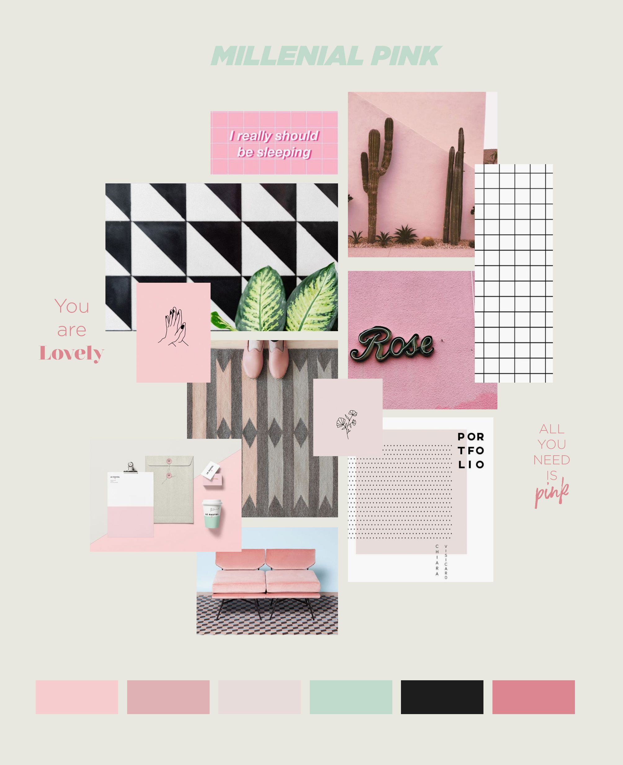 I Used This Inspiration Board To Create A Beautiful Template For Instagram Stories Perfect For Any Kind Of Fashion Loo Instagram Millenial Pink Digital Design