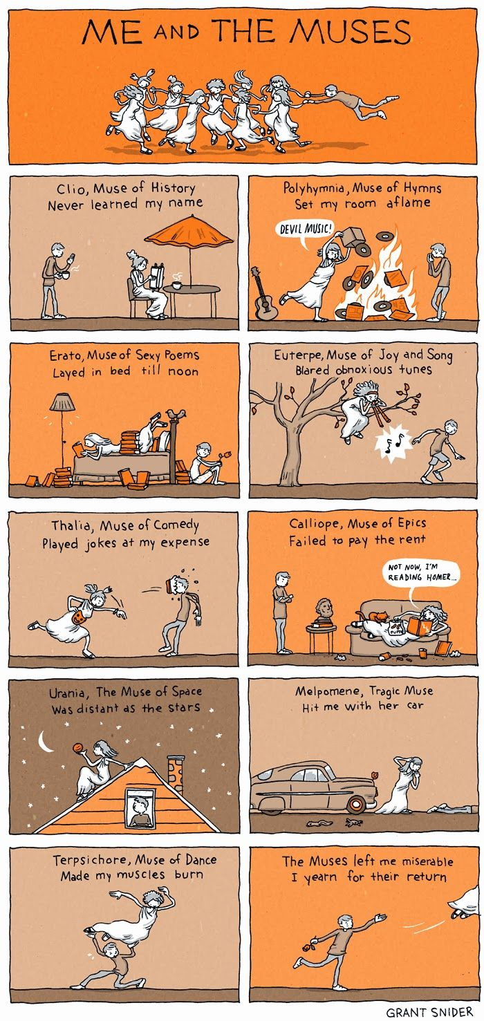 INCIDENTAL COMICS: Me and The Muses