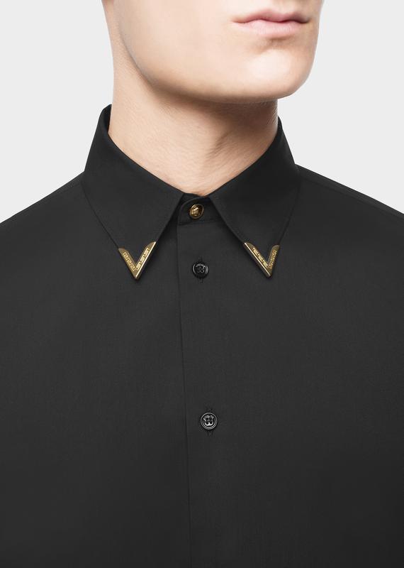 98883fce8259 Gold Tipped Collar Shirt