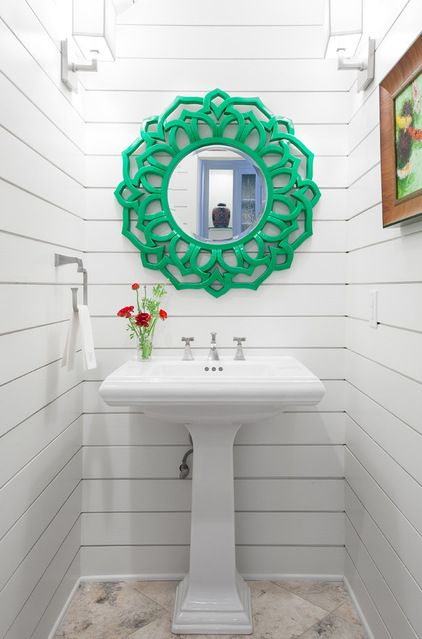Beach Style Powder Room By Casey St John Interiors Powder Room Design Diy Bathroom Remodel Small Bathroom Remodel