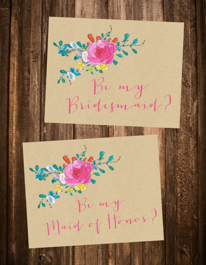 Will You Be My Bridesmaid Card Bridesmaid Proposal Card Wood Flowers Card Template Rustic Bridesmaid Instant Download Maid Of Honor F5 Bridesmaid Proposal Cards Bridesmaid Cards Will You Be My Bridesmaid