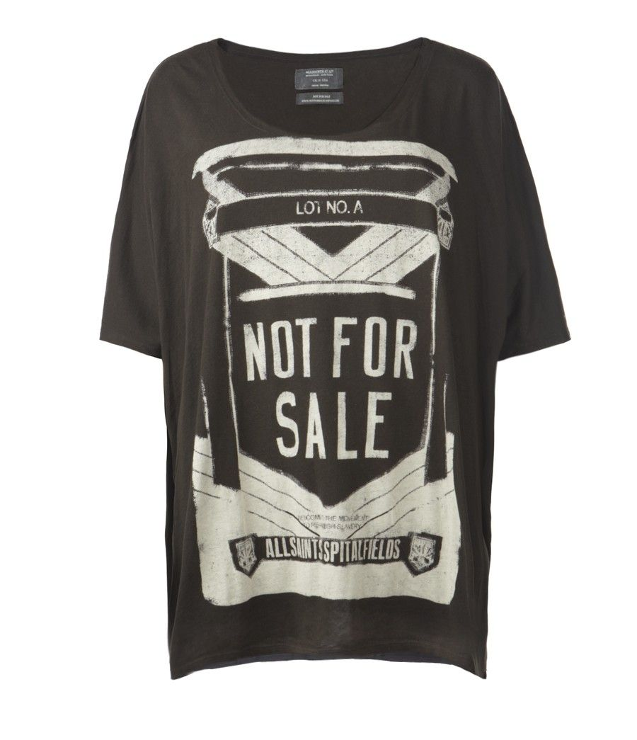 Stamped Top, Women, Graphic T-Shirts, AllSaints Spitalfields I want this so bad but its $75 dollars! still its really good cotton and printed by hand. *Sigh* maybe one day