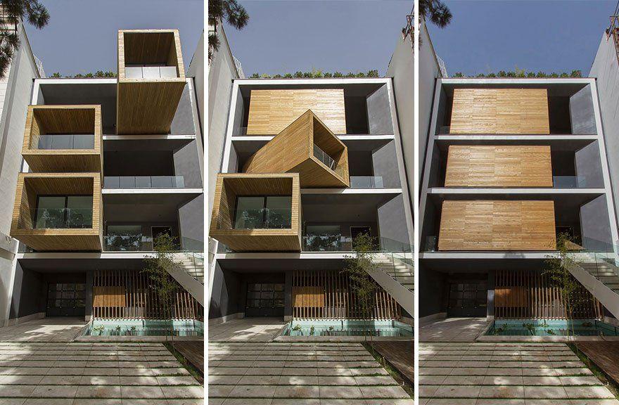 Une superbe maison dont les chambres pivotent à 90° pour suivre le - prix des gros oeuvres maison