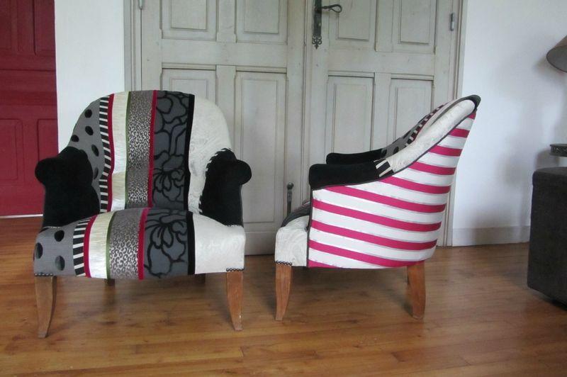 crapaud en patchwork tapissier à Brest Restauration de meubles