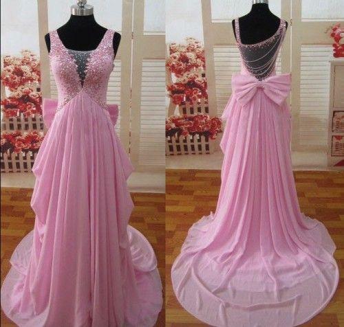 Evening Dresses Beading Strapless Chiffon Dress #ShopSimple | Moda ...