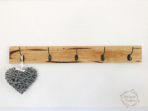Australian Timber Wall Mounted Coat Rack Hooks Racks