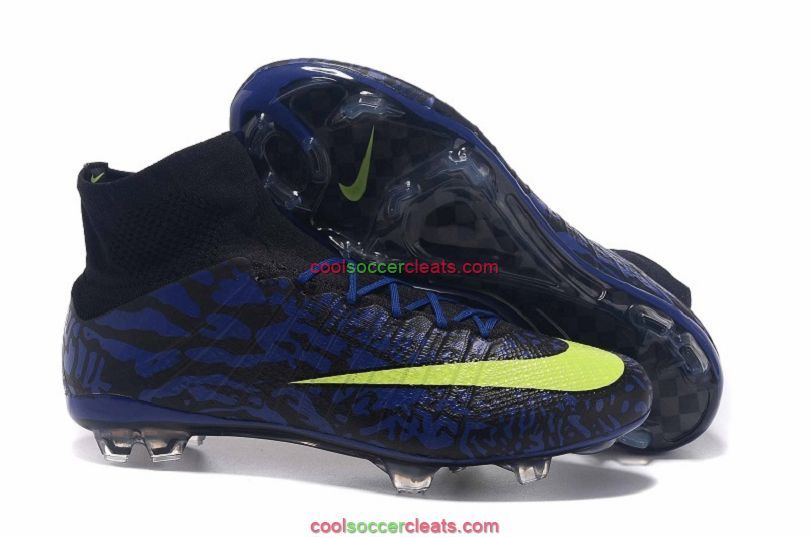 New Nike Mercurial Superfly FG ID Soccer Cleats Blue Black Volt