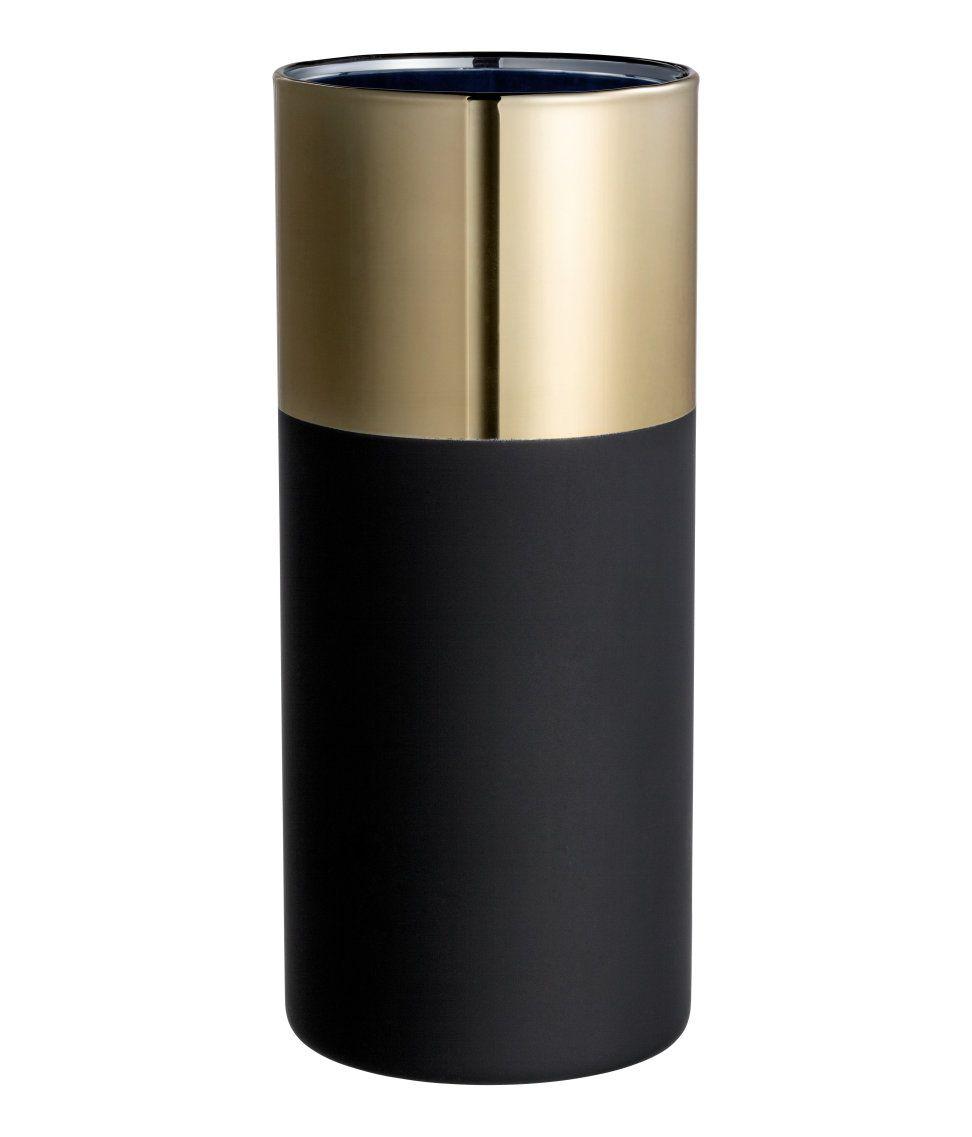 Sjekk ut dette! En sylinderformet vase i glass med malt utside. Diameter 7,5 cm, høyde 18 cm. - Besøk hm.com for å se mer.