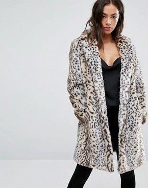 Mango Faux Fur Leopard Print Coat | Animal print | Leopard