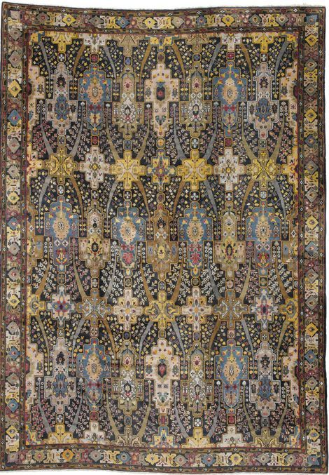 Chinese rug of Persian design, 5.56 by 3.89m., circa 1920, Sotheby's