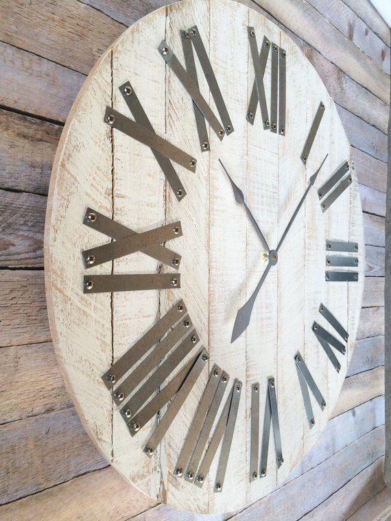 30 or 36 Wood Clock Rustic Pallet Wood   Clock, Wood ...