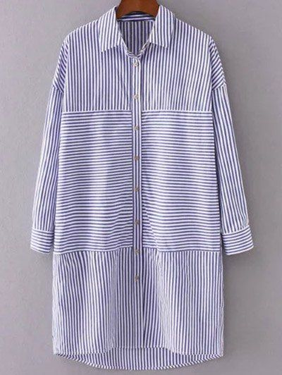 SHARE & Get it FREE | Single-Breasted Striped Shift Shirt DressFor Fashion Lovers only:80,000+ Items • New Arrivals Daily Join Zaful: Get YOUR $50 NOW!