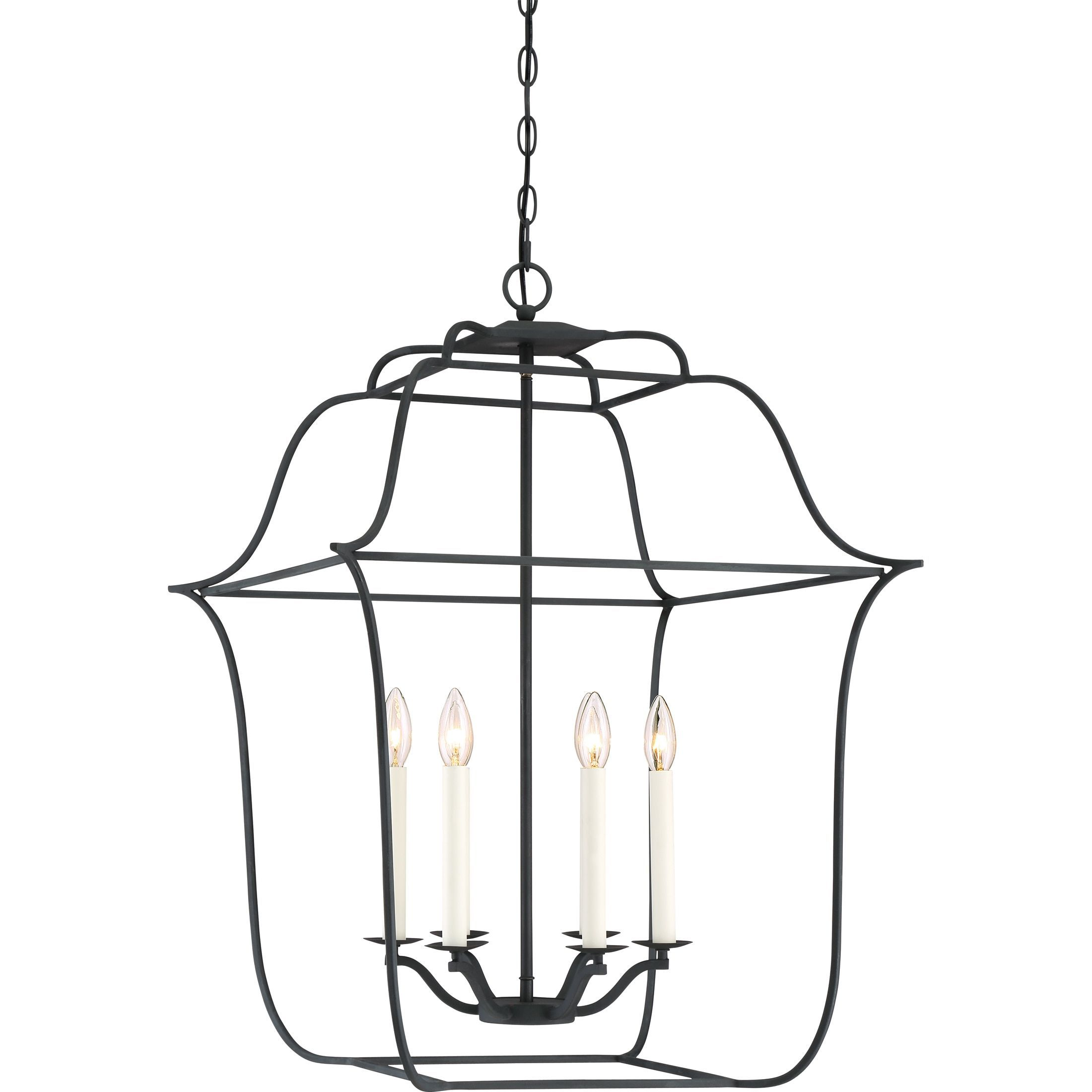 Quoizel Gallery Royal Ebony Steel 6 light Cage Chandelier Extra
