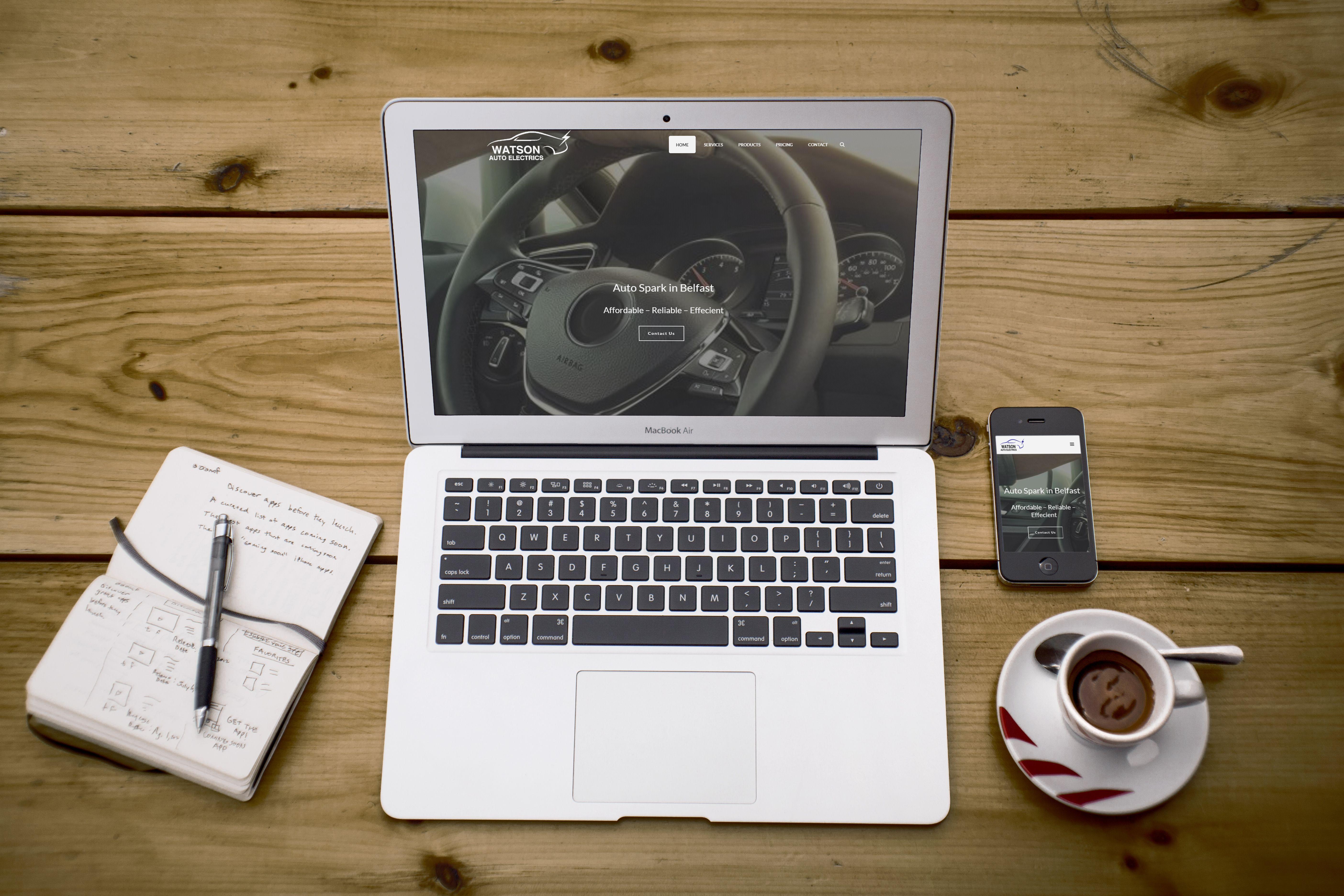 Website Design Mockup For Watson Auto Electrics Belfast Northern Ireland In 2020 Web Design Mockup Mockup Design Website Design Mockup