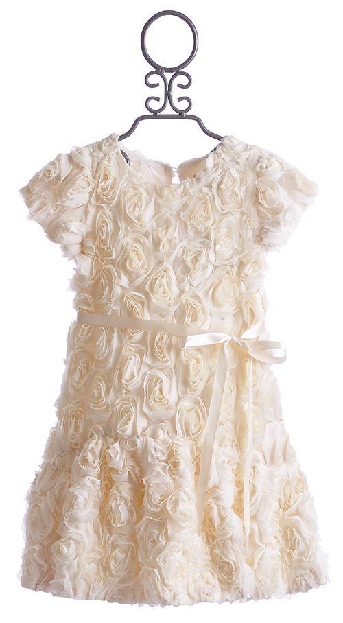 9b1e764d3263 Halabaloo Ivory Bouquet Flare Girls Holiday Dress $69.00 // flower girl