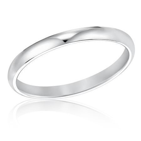 Zales Ladies 3.0mm Comfort Fit Wedding Band in 14K White Gold 6O1Vo