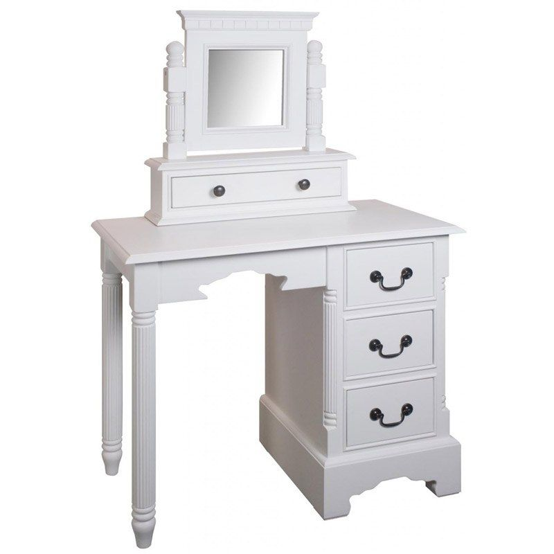 Georgiano Range - White Dressing Table Swing Mirror with Drawer from fave shop www.melodymaison.co.uk
