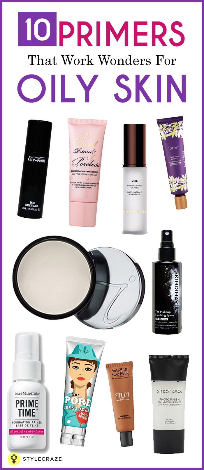 10 Best Primers For Oily Skin and Large Pores | Face primer ...