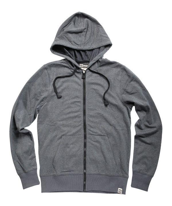 Love this Soot Gray Contrast Zip-Up Hoodie by HBsuper by HoodieBuddie on #zulily! #zulilyfinds