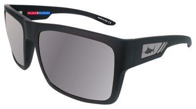 329fd27ea10 Pelagic Shark Bite Polarized Sunglasses - Matte Black Silver Mirror ...