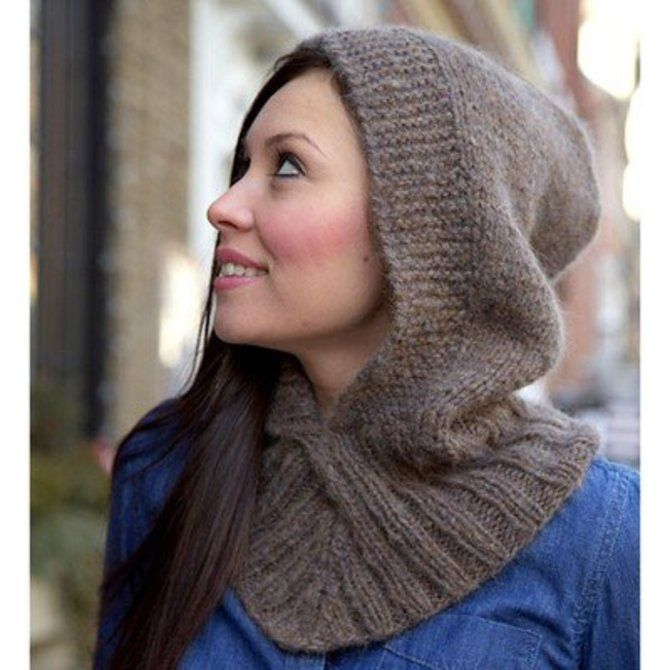 Plymouth Yarn F627 Hooded Neckwarmer (Free) - () | Knit ...