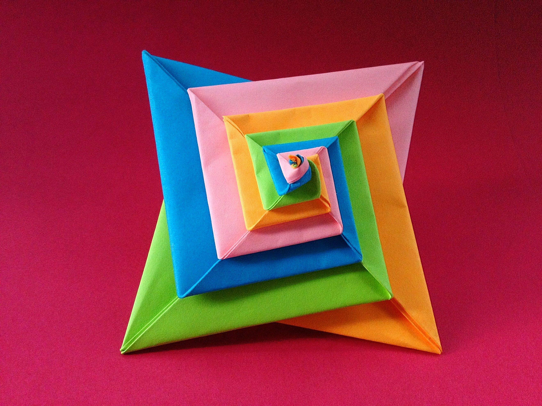Modular Action Fun Toy Origami  Paper Spiral Spring