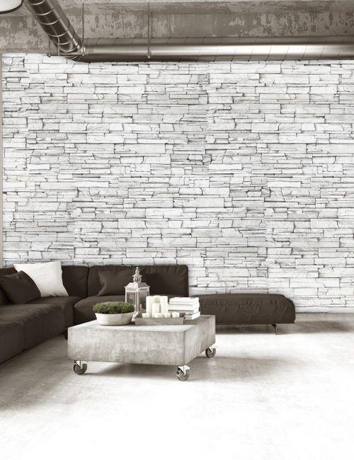 mattoni carta da parati possono essere progettate su misura e sono resistenti all'umidità per prevenire qualsiasi tipo di accumulo di umidità all'interno delle pareti. Carta Da Parati Mattoni Bianchi Carta Da Parati Fotomurale Con Sfondi E Disegni Effetto Pietra White Brick Brick Effect Wallpaper Brick